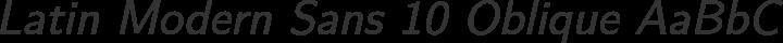 Latin Modern Sans 10 Oblique free font