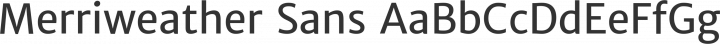 Merriweather Sans Regular free font