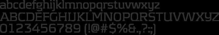 Kontrapunkt Font Specimen