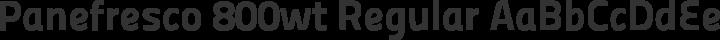 Panefresco 800wt Regular free font