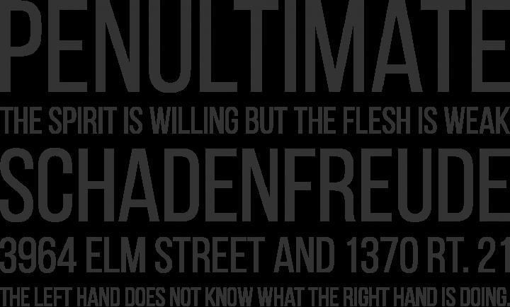 Bebas Neue Font Phrases