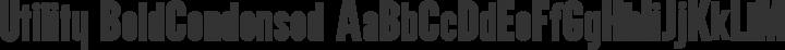 Utility BoldCondensed free font