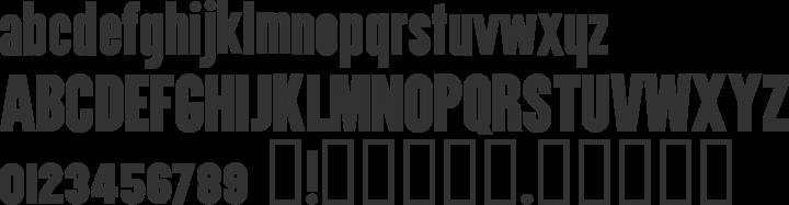 Utility Font Specimen