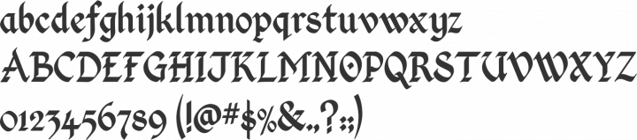 Kingthings Calligraphica Font Specimen