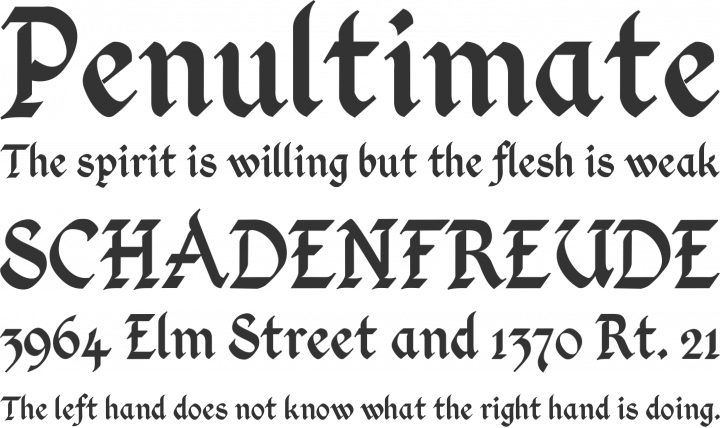 Kingthings Calligraphica Font Phrases