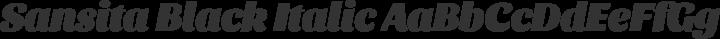Sansita Black Italic free font