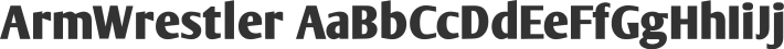 ArmWrestler font family by AJ Paglia