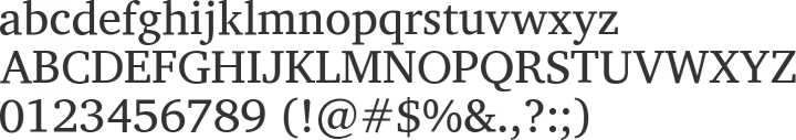 Charis SIL Font Specimen