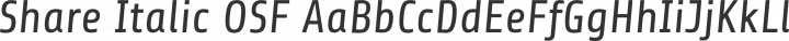 Share Italic OSF free font