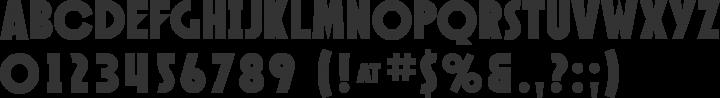 Speakeasy Font Specimen