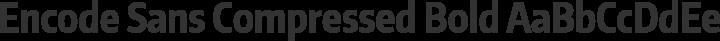 Encode Sans Compressed Bold free font