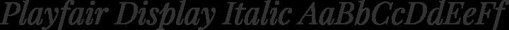 Playfair Display Italic free font