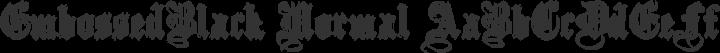 EmbossedBlack Normal free font