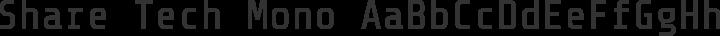 Share Tech Mono free font