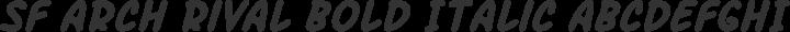 SF Arch Rival Bold Italic free font