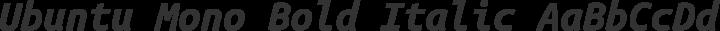Ubuntu Mono Bold Italic free font