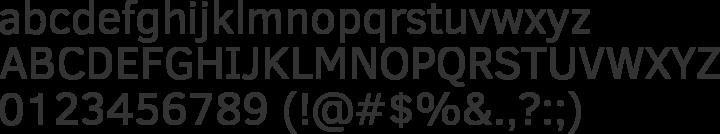 Clear Sans Font Specimen
