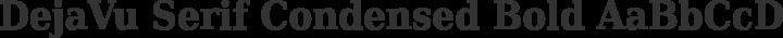 DejaVu Serif Condensed Bold free font