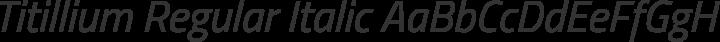 Titillium Regular Italic free font
