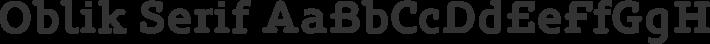 Oblik Serif font family by Tour de Force