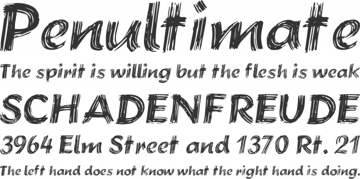 Brushstroke Plain Font Phrases