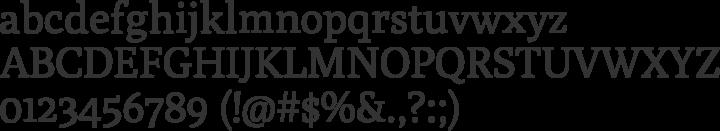 Poly Font Specimen