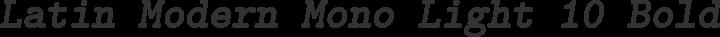 Latin Modern Mono Light 10 Bold Oblique free font