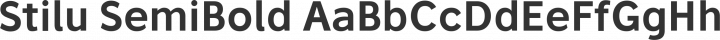 Stilu SemiBold free font