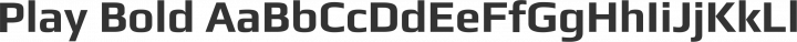 Play Bold free font