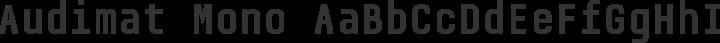 Audimat Mono Regular free font