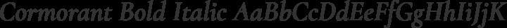 Cormorant Bold Italic free font