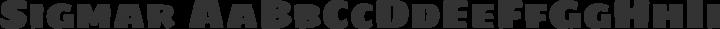 Sigmar Regular free font