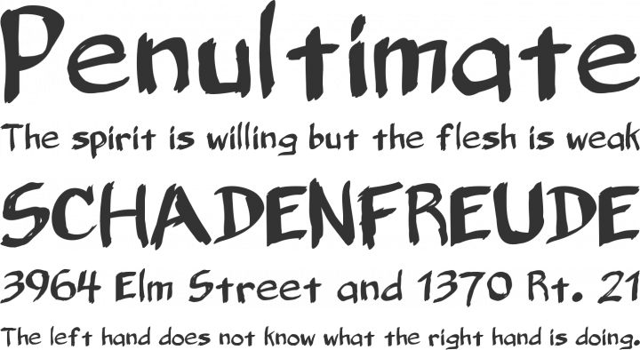 Belligerent Madness Font Phrases