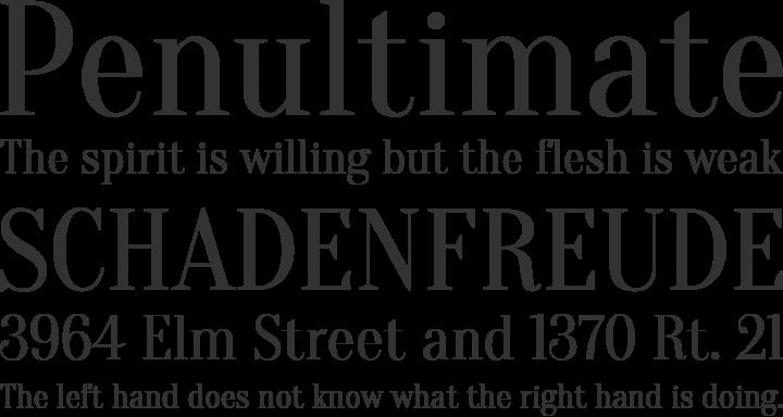 Oranienbaum Font Phrases