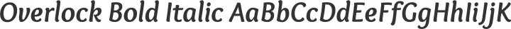 Overlock Bold Italic free font