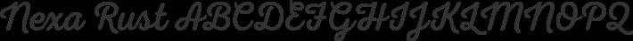 Nexa Rust font family by Fontfabric