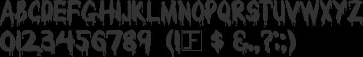 Bloody Font Specimen