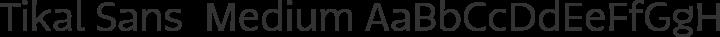 Tikal Sans  Medium free font