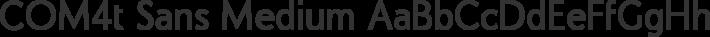 COM4t Sans Medium font family by COM4t