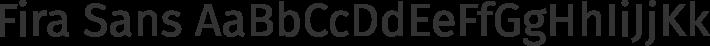 Fira Sans font family by Mozilla