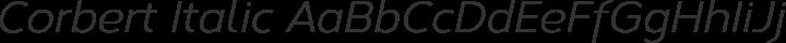 Corbert Italic free font