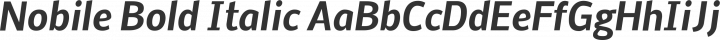 Nobile Bold Italic free font