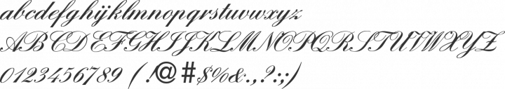 England Hand DB Font Specimen