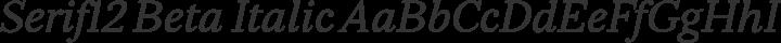 Serif12 Beta Italic free font