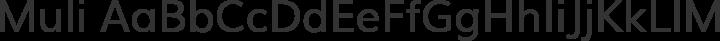 Muli Regular free font