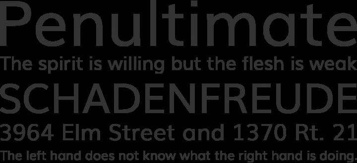 Muli Font Phrases