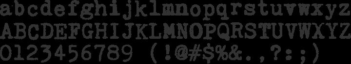Kingthings Trypewriter Font Specimen