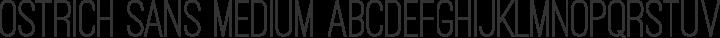 Ostrich Sans Medium Regular free font