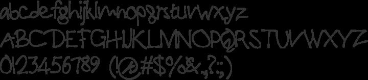 PaulMaul Font Specimen