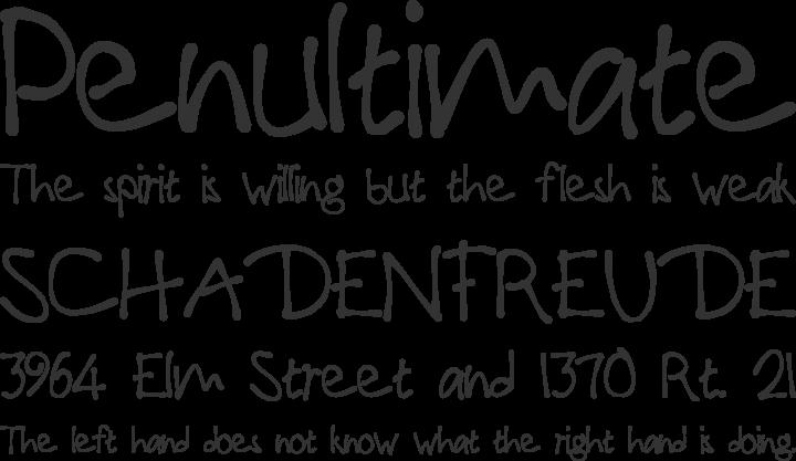 PaulMaul Font Phrases